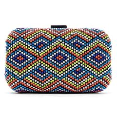 Multicolored Studded Evening bag
