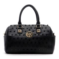 NX Color studded Black Boston Bag