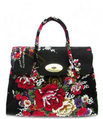 Flower Printed Fabric Canvas Tote