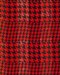 Houndstooth Satin Stripe Scarf (Red/ Black)