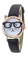 Nerdy Comic Cat Skinny Band Watch