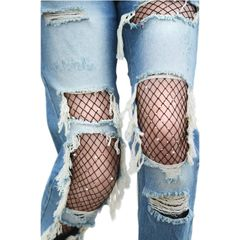 Scattered Rhinestone Fishnet Tights