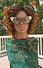 Handmade Kinky Twist Wig with No Closure Color 30, 10 Inches
