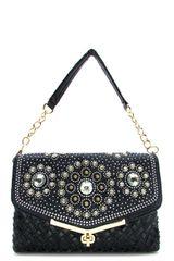 Rhinestone Glam Shoulder Bag