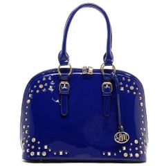 Rhinestone Studded Bowler Tote