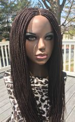 Handmade Cornrow Box Braided Wig Color 33, 26 Inches