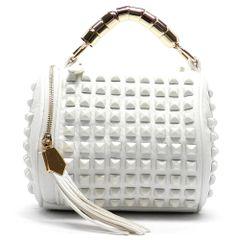 White Rockstud Handbag