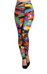 Rainbow Mark Printed High Waisted Leggings