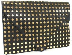 Oversize Studded Black Clutch