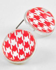 Houndstooth Button