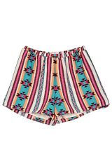 Multicolored Aztec Printed Shorts