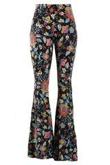 Bohemian Flare Printed Pants