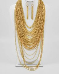 Multi Strand Chain Gold