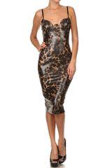 Leopard Print Body Con Dress