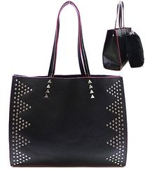 Metal Studded Tote Bag