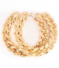 Gold Chain Hoop Earrings
