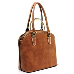 Fashion Satchel and Round Top Handle Satchel 2 in 1 Set