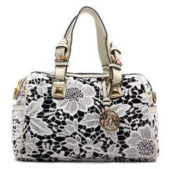 Denim and Lace Handbag