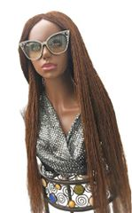Handmade Micro Twist Braided Wig Color 30 &33 Mix, 32 Inches