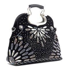 Rhinestone Satchel Bag