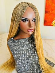 Micro Twist Braided Wig, Honey Blonde, 30 Inches