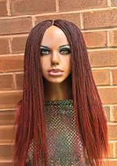 Handmade Micro Twist Braided Wig Color 35, 24-26 Inches