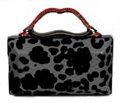 Red Stone Grip Evening Bag