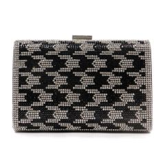 Rhinestone Houndstooth Evening Bag