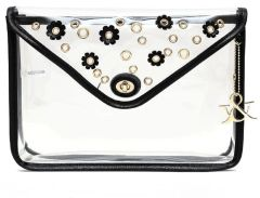Large Flower Design See Through Clutch