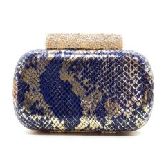 Metallic Python Evening Bag