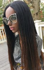 Handmade Micro Twist Ombre Braided Wig Color 1b/30, 28 Inches