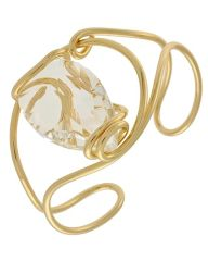 Clear Glass Cuff Bracelet