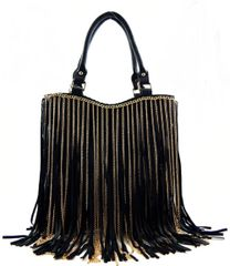 Gold Chain Layer Fringe Shoulder Bag