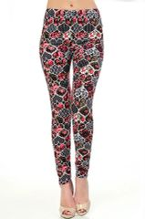 Ultra Soft Mixed Heart and Floral Printed High Waist Leggings