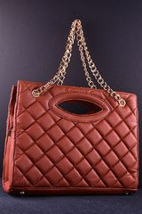 Brown Quilted