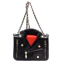 Leather Jacket Style Cross Body Bag