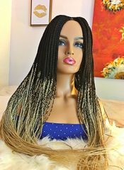 Cornrow Box Braided Wig Ombre Color 1/613, 32 inches