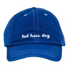 "Women's ""Bad Hair Day"" Embroidered Cotton Cap"