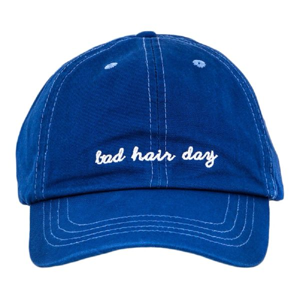blue bad hair day washed look cap  76e2c2a369d