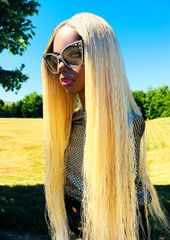 Handmade Micro Twist Braided Wig Color Blonde 613,30 Inches