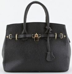 Pebbled Black Handbag