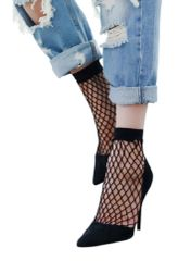 Women's Edgy Fishnet Crew Socks