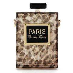 Animal Print Perfume Bottle Evening Bag