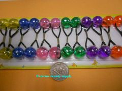 pink ELASTIC orange green purple JUMBO BEADS HAIR TIE KNOCKER GIRL SCRUNCHIE BALLS PONYTAil holder