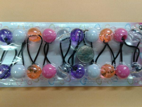 pink bear ELASTIC jumbo beads hair tie Knocker girl Scrunchie Ba ... 144612dc0b9
