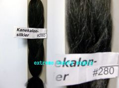 SILKIER silky color # 280 OFF BLACK WITH 10% GRAY Afrelle kanekalon synthetic braid hair dreadlock dread lock doll reroot paty COSTUME crown stage play