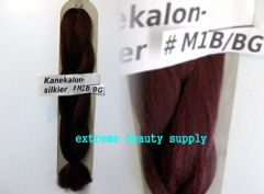 SILKIER silky color # OFF BLACK FROST 1B / BURGUNDY Afrelle kanekalon synthetic braid hair dreadlock dread lock doll reroot paty COSTUME crown stage play
