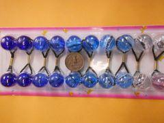 clear blue ELASTIC tie jumbo beads hair Knocker girl Scrunchie Balls Ponytail Holder