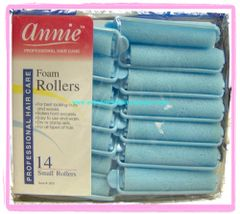 """annie Foam roller 1/2"""" x 2 1/2"""" small inch jumbo 14 count pink dry damp set blue"""
