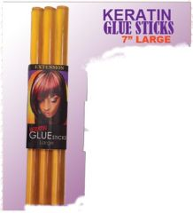 "eve fusion keratin glue stick Keratin 7"" inch glue stick coffee brown clear for hair extensions sell by 1each individual stick"